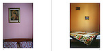 left: 'Double bed', right: 'Single bed' - photographs from the book 'Awake'