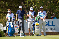Ross Fisher (ENG), Hideto TANIHARA (JAP) on the 10th during the 5th round at the WGC Dell Technologies Matchplay championship, Austin Country Club, Austin, Texas, USA. 25/03/2017.<br /> Picture: Golffile | Fran Caffrey<br /> <br /> <br /> All photo usage must carry mandatory copyright credit (&copy; Golffile | Fran Caffrey)
