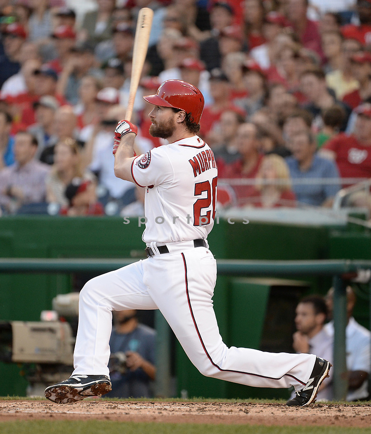 Washington Nationals Daniel Murphy (20) during a game against the Chicago Cubs on June 14, 2016 at Nationals Park in Washington, DC. The Cubs beat the Nationals 4-3.