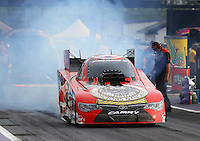 Apr 24, 2015; Baytown, TX, USA; NHRA  funny car driver Chad Head during qualifying for the Spring Nationals at Royal Purple Raceway. Mandatory Credit: Mark J. Rebilas-
