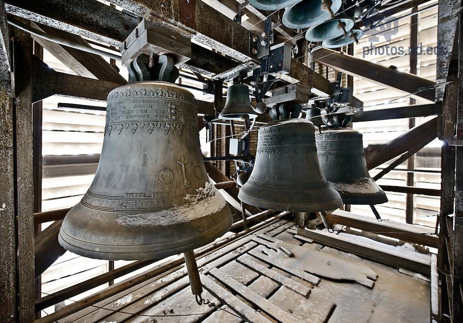 Feb. 21, 2013; Basilica Bells..Photo by Matt Cashore/University of Notre Dame