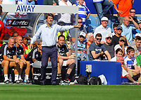 FAO SPORTS PICTURE DESK<br /> Pictured: Michael Laudrup manager fro Swansea. Saturday 18 August 2012<br /> Re: Barclay's Premier League, Queens Park Rangers v Swansea City FC at Loftus Road Stadium, London, UK.