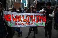 No War Against Iran Rally Chicago Illinois 1-4-20