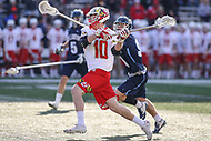 College Park, MD - March 18, 2017: Maryland Terrapins Jared Bernhardt (10) attempts a shot during game between Villanova and Maryland at  Capital One Field at Maryland Stadium in College Park, MD.  (Photo by Elliott Brown/Media Images International)