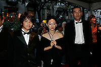 September 18, 2005, Monteal (Qc) CANADA<br /> <br /> <br /> Tegoshi Yuya, Actor and singer(L),<br /> MANO Hanae, actress (M),<br /> Sabu, Director (R)<br /> <br /> all for the Japanese movie DEAD RUN<br /> t the opening of the first NEW MONTREAL FILMFEST <br /> aPhoto by Pierre Roussel / Images Distribution