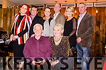 BIRTHDAY GIRL: Celebrating her 70th birthday at Mulcahy's Restaurant in Kenmare is Joan Lynch-Purcell with husband Bob, and in rear daughter Joann Murphy-Lynch, son-in-law Pat Murphy, daughter-in-law Grain and son Donald Lynch, daughter Fiona and son-in-law Pat Keane.