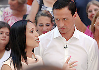 NEW YORK, NY-August 29: Cheryl Burke, Ryan Lochte, at Good Morning America to talk about new season of Dancing with the Stars in New York. August 29, 2016. Credit:RW/MediaPunch