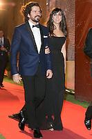 Jorge Torregrossa and Carmen Ruiz attends the Feroz Cinema Awards 2015 at Las Ventas, Madrid,  Spain. January 25, 2015.(ALTERPHOTOS/)Carlos Dafonte) /NortePhoto<br /> <br /> nortePhoto.com