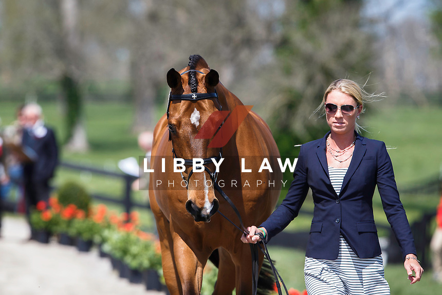 USA-Kirsten Schmolze (BALLYLAFFIN BRACKEN) THE JOG: 2015 USA-Rolex Kentucky Three Day Event CCI4* (Wednesday 22 April) CREDIT: Libby Law COPYRIGHT: LIBBY LAW PHOTOGRAPHY