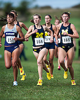 The University of Michigan Women's cross country team competed at the Rim Rock Classic in Lawrence, Kansas Oct. 5, 2013