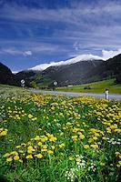 Road to Italy, on the Austrian, Italian border near Nauders,Tyrol, Austria.
