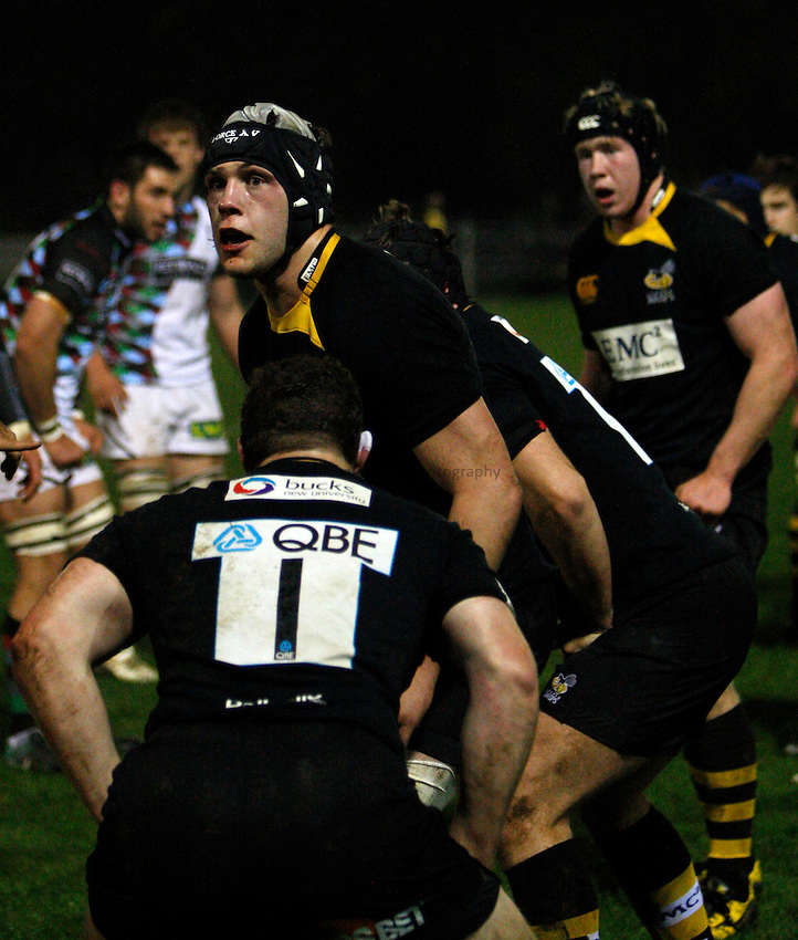 Photo: Richard Lane/Richard Lane Photography. London Wasps A v Harlequins A. Aviva A League. 01/11/2010. Wasps' Peter Elder.