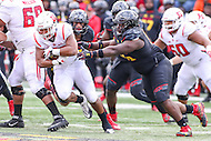 College Park, MD - November 26, 2016: Rutgers Scarlet Knights running back Justin Goodwin (32) in action during game between Rutgers and Maryland at  Capital One Field at Maryland Stadium in College Park, MD.  (Photo by Elliott Brown/Media Images International)