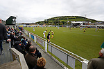 Aberystwyth Town 1 Newtown 2, 17/05/2015. Park Avenue, Europa League Play Off final. Referees Assistant and crowd watch as Aberystwyth search for an equaliser. Aberystwyth finished 14 points above Newtown in the Welsh Premier League, but were beaten 1-2 in the Play Off Final. Photo by Paul Thompson.