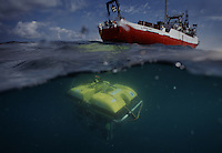 An unmanned submersible conducts search in the Black Sea for Robert Ballard.