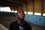 ZANZUR, Libya Sunday 4th September 2011:..Churchgoer in Pastor Ojiexeri's Sunday Service. To its members Ojiexeri's church has become the foundation of their daily lives. It is their place of worship, their social club, their dancehall, their group therapy session. ...Ayman Oghanna