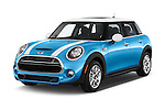 2015 MINI Cooper S 4 Door 4 Door Hatchback Angular Front stock photos of front three quarter view