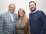 Stewart F. Lane, Bonnie Comley and Moritz von Stuelpnagel attends the BroadwayHD panel discussion at Broadwaycom 2018 on January 26, 2018 at Jacob Javitz Center in New York City.