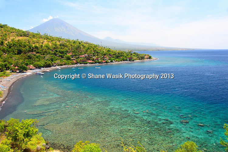 Mt Agung looks over Amed Bay