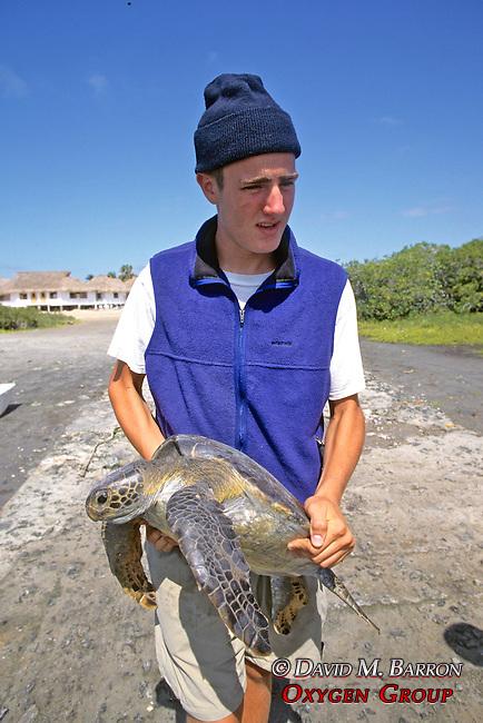 John Horan Holding Black Sea Turtle