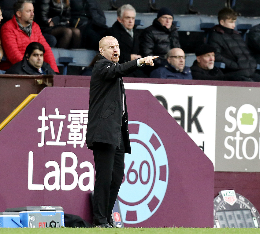 Burnley manager Sean Dyche shouts instructions to his team from the dug-out <br /> <br /> Photographer Rich Linley/CameraSport<br /> <br /> Emirates FA Cup Third Round - Burnley v Barnsley - Saturday 5th January 2019 - Turf Moor - Burnley<br />  <br /> World Copyright © 2019 CameraSport. All rights reserved. 43 Linden Ave. Countesthorpe. Leicester. England. LE8 5PG - Tel: +44 (0) 116 277 4147 - admin@camerasport.com - www.camerasport.com