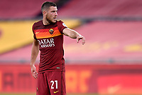 Jordan Veretout of AS Roma during the Serie A football match between AS Roma and ACF Fiorentina at stadio Olimpico in Roma (Italy), July 26th, 2020. Play resumes behind closed doors following the outbreak of the coronavirus disease. <br /> Photo Antonietta Baldassarre / Insidefoto