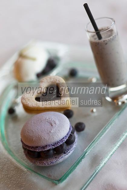 Europe/France/Rhone-Alpes/73/Savoie/Méribel:Varaition sur le thème des myrtilles -  recette de Marc Dach de l'Hôtel-restaurant: Le Grand Coeur
