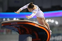 12th March 2020, Baku, Azerbaijan;  2020 Artistic World Cup Gymnastics Tournament;  Yana Vorona, RUS, during qualification on the vault