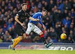 24.11.2018 Rangers v Livingston: Kyle Lafferty hits the side netting