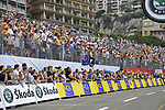 The packed grandstands near the end of the Prologue Stage 1 of the 2009 Tour de France a 15.5km individual time trial held around Monaco. 4th July 2009 (Photo by Eoin Clarke/NEWSFILE)