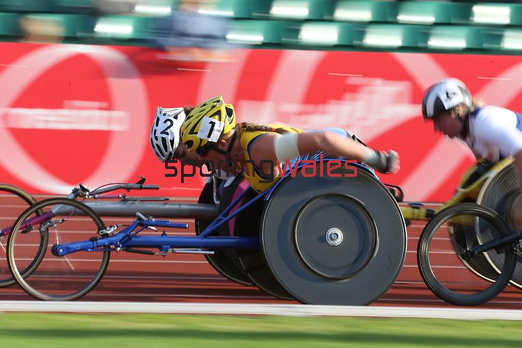 IPC European Athletics Championship 2014<br /> Gunilla Wallengren SWE<br /> Women's 5000m T54<br /> Swansea University<br /> 20.08.14<br /> &copy;Steve Pope-SPORTINGWALES