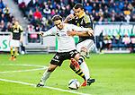 Solna 2015-04-26 Fotboll Allsvenskan AIK - &Ouml;rebro SK :  <br /> AIK:s Nabil Bahoui i kamp om bollen med &Ouml;rebros Nordin Gerzic under matchen mellan AIK och &Ouml;rebro SK <br /> (Foto: Kenta J&ouml;nsson) Nyckelord:  AIK Gnaget Friends Arena Allsvenskan &Ouml;rebro &Ouml;SK