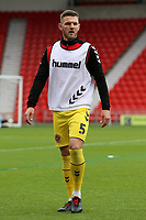 Fleetwood Town's Ashley Eastham during the pre-match warm-up <br /> <br /> Photographer David Shipman/CameraSport<br /> <br /> The EFL Sky Bet League One - Doncaster Rovers v Fleetwood Town - Saturday 6th October 2018 - Keepmoat Stadium - Doncaster<br /> <br /> World Copyright © 2018 CameraSport. All rights reserved. 43 Linden Ave. Countesthorpe. Leicester. England. LE8 5PG - Tel: +44 (0) 116 277 4147 - admin@camerasport.com - www.camerasport.com