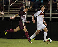 The Winthrop University Eagles played the College of Charleston Cougars at Eagles Field in Rock Hill, SC.  College of Charleston broke the 1-1 tie with a goal in the 88th minute to win 2-1.  Adam Brundle (12), Jake Currie (10)