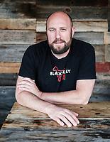 Hosea Rosenberg at his Blackbelly restaurant in Boulder, Colorado, Thursday, August 17, 2017.<br /> <br /> Photo by Matt Nager