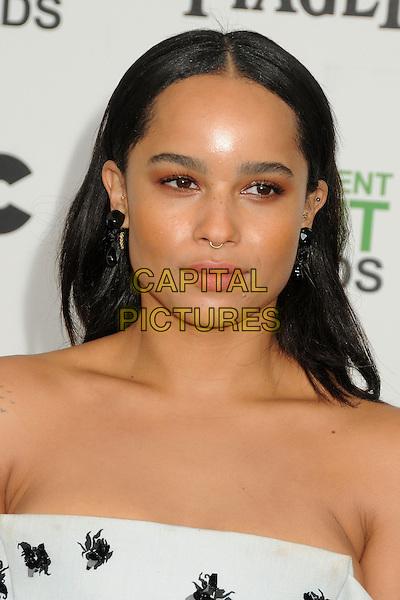 1 March 2014 - Santa Monica, California - Zoe Kravitz. 2014 Film Independent Spirit Awards - Arrivals held at Santa Monica Beach. <br /> CAP/ADM/BP<br /> &copy;Byron Purvis/AdMedia/Capital Pictures