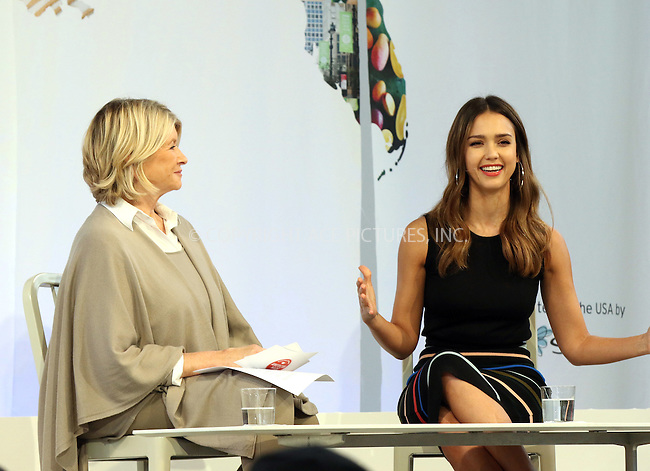 www.acepixs.com<br /> <br /> October 22 2016, New York City<br /> <br /> Martha Stewart (L) and actress and business person Jessica Alba made an appearance at the Martha Stewart 2016 American Made Summit on October 22 2016 in New York City<br /> <br /> By Line: Nancy Rivera/ACE Pictures<br /> <br /> <br /> ACE Pictures Inc<br /> Tel: 6467670430<br /> Email: info@acepixs.com<br /> www.acepixs.com