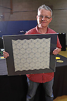 Ralf Konrad, Germany, origami designer, with a tessellation