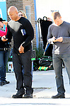 ....January 31st 2011...LL Cool J & Chris O'Donnell filming a liquor store robbery scene for the tv show NCIS La in San Pedro California. In between filming LL would rub chap stick on his lips really fast & text message girls on his phone. A few fans took pictures of him with there camera phone. LL smiled and waved showing off his lovely dimples. LL drove away in his white Bentley carrying his apple laptop sagging his paints so much they almost fell off. He dressed just like a rapper. ...AbilityFilms@yahoo.com.805-427-3519 .www.AbilityFilms.com.