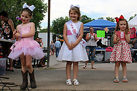 Winners of the Little Miss Strawberry Pageant in the 3-5 years division are (from left) Rayland Bell, second place; Lilly Kay Betts, first place; and Oakley Patterson, third place.
