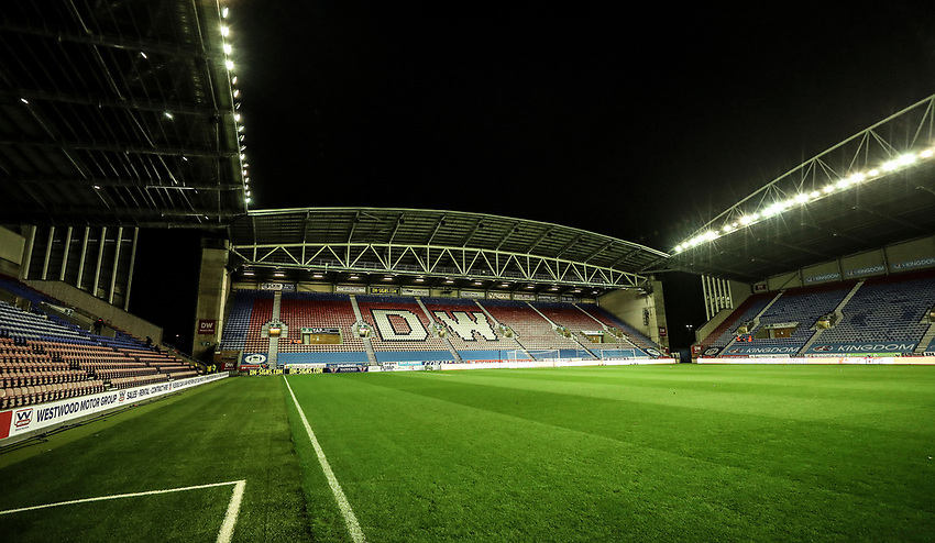 General View at DW Stadium - Wigan<br /> <br /> Photographer Rachel Holborn/CameraSport<br /> <br /> The EFL Sky Bet Championship - Wigan Athletic v Blackburn Rovers - Wednesday 28th November 2018 - DW Stadium - Wigan<br /> <br /> World Copyright © 2018 CameraSport. All rights reserved. 43 Linden Ave. Countesthorpe. Leicester. England. LE8 5PG - Tel: +44 (0) 116 277 4147 - admin@camerasport.com - www.camerasport.com