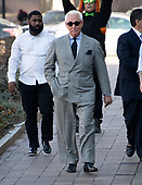 Former adviser to United States President Donald J. Trump, Roger Stone, walks to the US District Court in Washington, DC on Thursday, March 14, 2019. <br /> Credit: Ron Sachs / CNP<br /> (RESTRICTION: NO New York or New Jersey Newspapers or newspapers within a 75 mile radius of New York City)