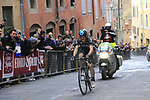 Michal Kwiatkowski (POL) Team Sky in the lead solo on the final climb of Via Santa Caterina in Siena during the 2017 Strade Bianche running 175km from Siena to Siena, Tuscany, Italy 4th March 2017.<br /> Picture: Eoin Clarke | Newsfile<br /> <br /> <br /> All photos usage must carry mandatory copyright credit (&copy; Newsfile | Eoin Clarke)