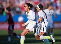 Frisco, TX - February 13, 2016: The USWNT defeated Mexico 1-0 at the CONCACAF Women's Olympic Qualifying Tournament in Toyota Stadium.