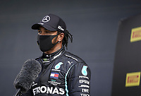 1st August 2020, Silverstone, Northampton, UK; FIA Formula One World Championship 2020, Grand Prix of Great Britain,  qualifying;  44 Lewis Hamilton GBR, Mercedes-AMG Petronas Formula One Team, wins pole