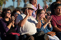 """I Heart Ventura County"" is a community event sponsored by Life Without Limbs in partnership with ACTION, City Impact, local churches, agencies, schools and government officials. The goal of IHVC is to facilitate positive change through days of volunteer service and dynamic community events, and culminates in a Community Gathering and revival at Seaside Park (Ventura County Fairgrounds).The main speaker at all the events is Nick Vujicic who was born Australia without arms and legs. He spoke to local high schools about bullying and self worth, visited the Church in the Park at Lions Park in Oxnard, CA and ended the evening with two speaking engagements at The Ventura County Fairgrounds . Photographs by ©Anacleto Rapping"