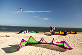 MAURITIUS, the kite surfing scene at the base of Le Mourne mountain, Le Mourne Peninsula