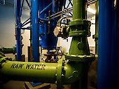 Lake Station's water filtration plant in Lake Station, Indiana.