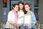 SMILES: Delighted with their leaving cert results on Wednesday were girls from Presentation Secondry School, Castleisland, l-r: Shoonagh Fleming (Currow), Aoife Breen (Castleisland) and Nora O'Donoghue (Cordal).