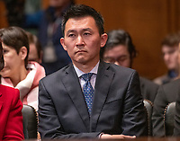 Kenneth Kiyul Lee waits to give testimony before the United States Senate Committee on the Judiciary on his nomination to be United States Circuit Judge For The Ninth Circuit on Capitol Hill in Washington, DC on Wednesday, March 13, 2019.<br /> Credit: Ron Sachs / CNP/AdMedia